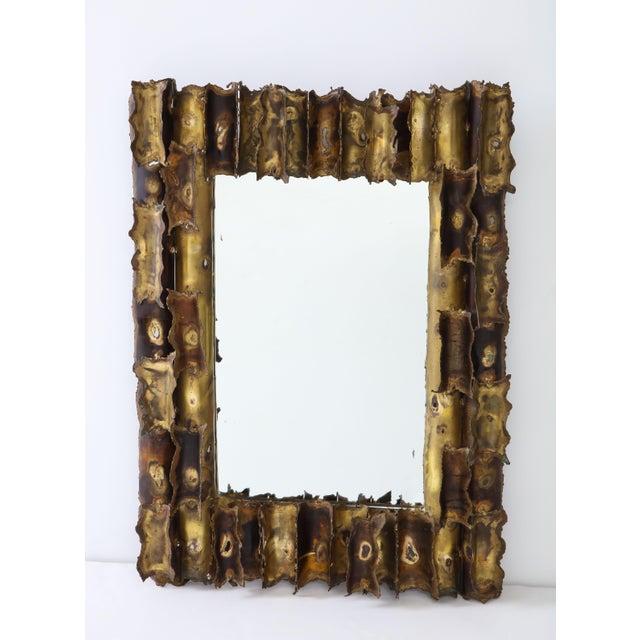 Tom Greene Custom Made Brutalist Mirror For Sale - Image 11 of 12