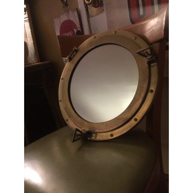 Nautical Brass Porthole Mirror - Image 2 of 8