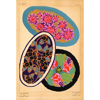 "French Pochoir, Designer Sheet #17, Seguy 1929, Matted 16 X 20"" For Sale"