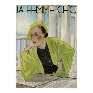 """La Femme Chic, No.279, April 1934"". Original French Fashion Magazine Cover For Sale"