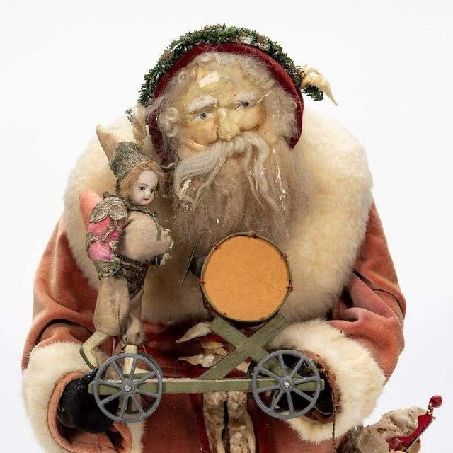Metal Large Vintage Father Christmas Figure For Sale - Image 7 of 8