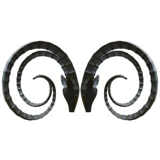 Ibex Rams Head Dining Table Bases - a Pair For Sale