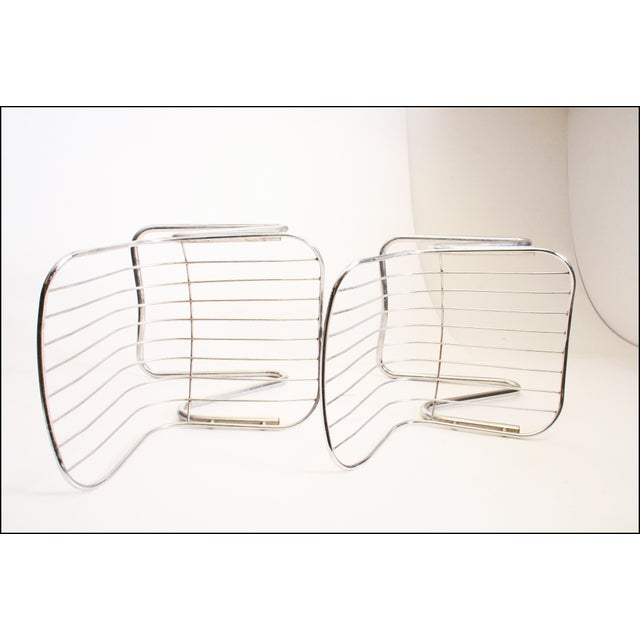 Vintage Italian Chrome Metal Dining Chairs - Set of 4 - Image 10 of 11