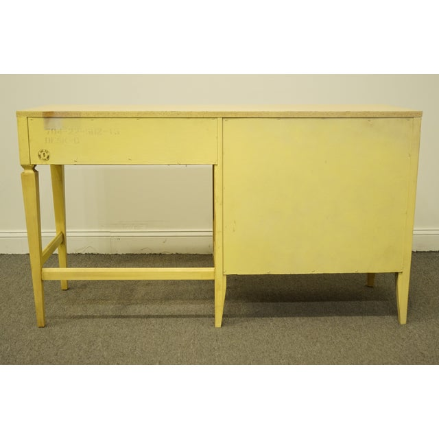 20th Century French Provincial Basic Witz Furniture Painted Cream Writing Desk For Sale - Image 9 of 13