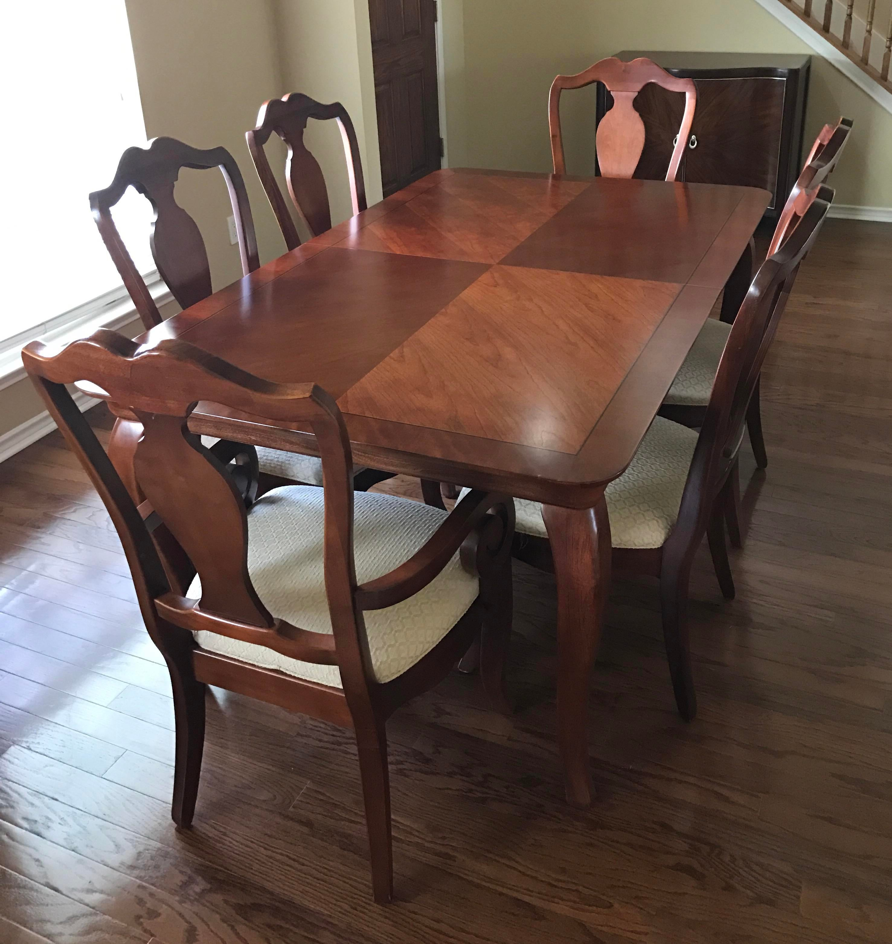Thomasville Dining Table U0026 Chairs W/ Leaves   Image 2 Of 10
