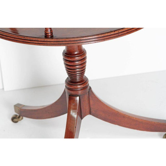 Brown Late 18th Century George III Tiered Dessert Table of Mahogany For Sale - Image 8 of 12