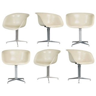 1960s Alexander Girard & Charles Eames La Fonda Armchairs for Herman Miller - Set of 6 For Sale