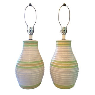 Mid Century Ceramic Table Lamps - a Pair For Sale