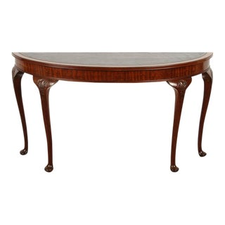 19th Century English Demilune Table For Sale