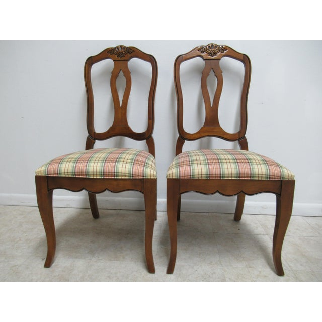 Modern Ethan Allen Country French Dining Room Side Chairs- A Pair For Sale - Image 13 of 13