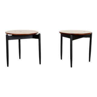 1960s Walnut End Tables - a Pair For Sale