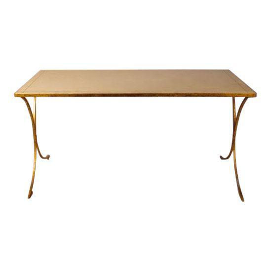 Gold French Gilt Leather Top Desk For Sale - Image 8 of 8