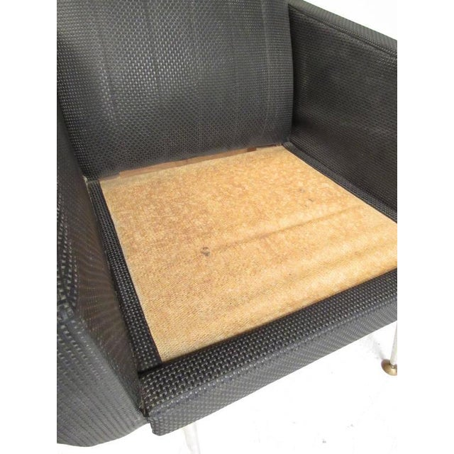 Italian Modern High Back Lounge Chairs After Gio Ponti For Sale - Image 10 of 11