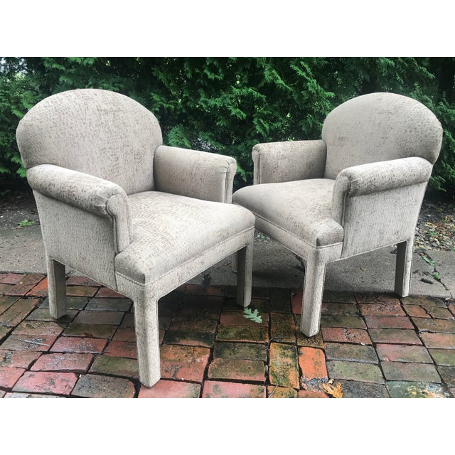 Contemporary Kravet Chairs - a Pair For Sale - Image 10 of 10