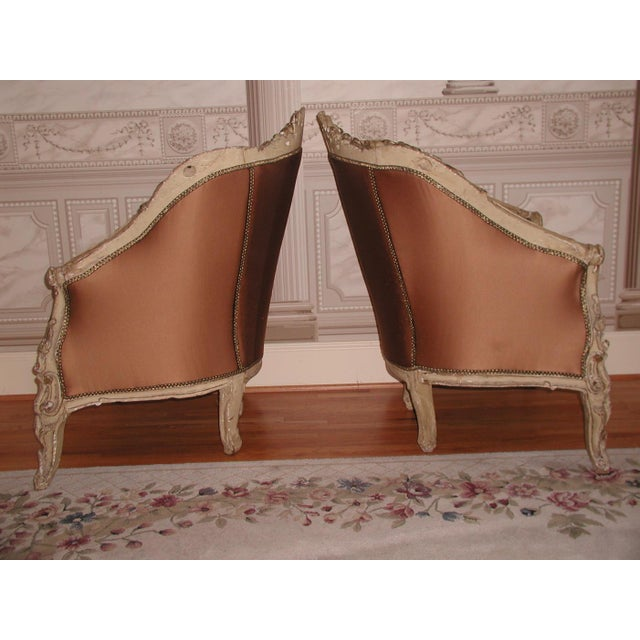 Late 18th Century 18th Century Art Nouveau Hand-Carved Arm Chairs - a Pair For Sale - Image 5 of 9