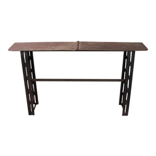Industrial Period Hand Forged Iron Console For Sale