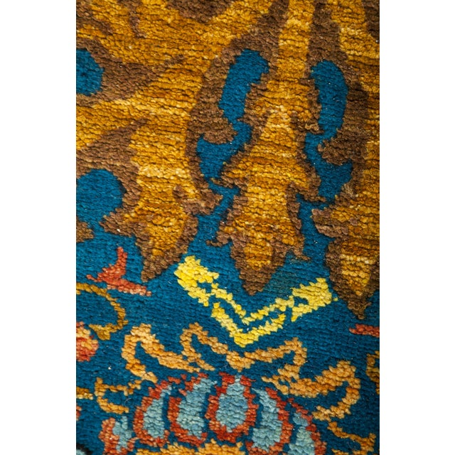 """Abstract Macau, Eclectic Area Rug - 4' 3"""" X 6' 1"""" For Sale - Image 3 of 4"""