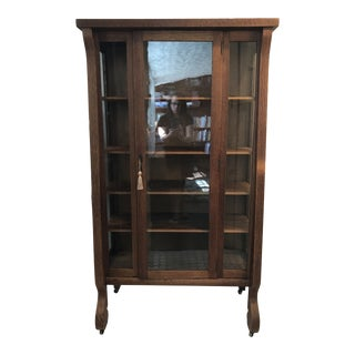 Midcentury Empire China Cabinet For Sale
