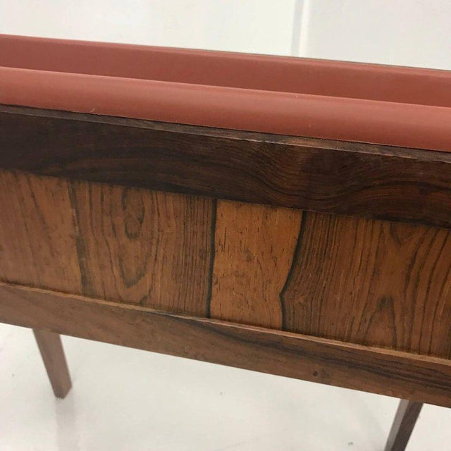 Mid-Century Modern Brazilian Rosewood Planter For Sale - Image 4 of 6