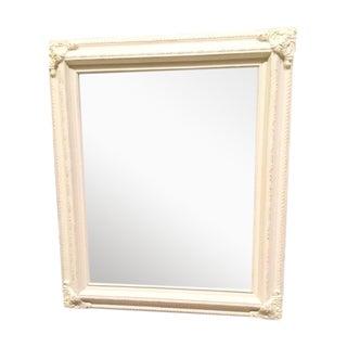 Antique White Wood Mirror