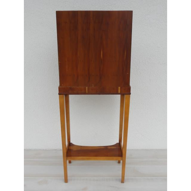 Wood Baker Furniture Small Entryway Console Table Cabinet For Sale - Image 7 of 13
