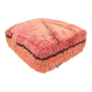 Handmade Vintage Pouf Cover For Sale