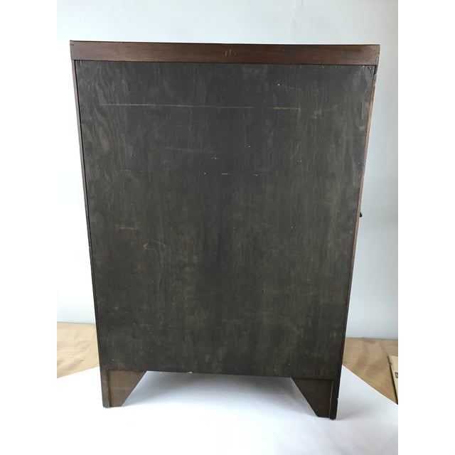 Brown Antique Wood Display Curio Shelf Drawer Cupboard For Sale - Image 8 of 13