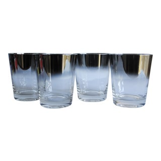 Silver Ombre Rocks Glasses - Set of 4