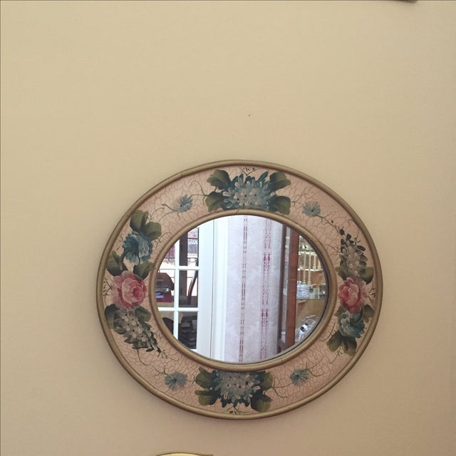 Vintage Hand-Painted Mirror - Image 2 of 6
