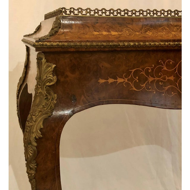 Louis XV Antique Louis XV Burled Walnut Jardiniere, Circa 1880. For Sale - Image 3 of 5