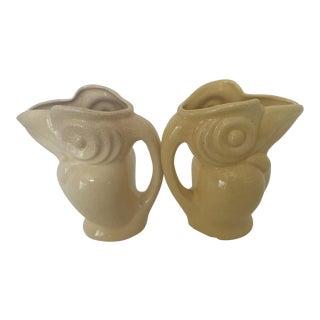 Vintage Ceramic Toucan Pitchers - a Pair For Sale