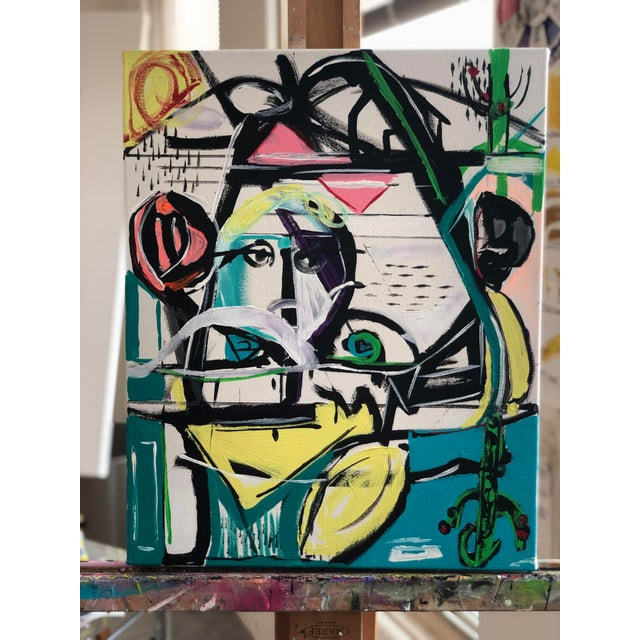 Jj Justice Contemporary Abstract Portrait Painting For Sale - Image 9 of 10