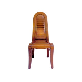 1980s Vintage Architectural Modernist Chair For Sale