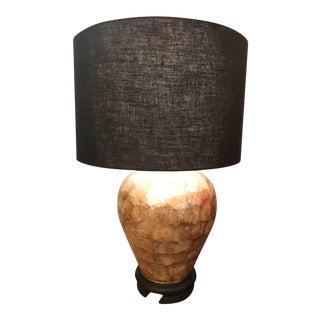 Stunning Capiz Shell Lamp by Marbro