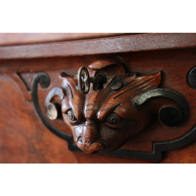 Monumental 19th Century Victorian Ornate Carved Burled Walnut Sideboard For Sale - Image 12 of 13