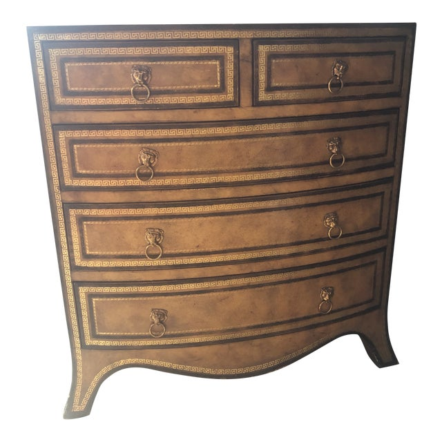 Maitland-Smith Georgian Style Leather Covered Chest For Sale