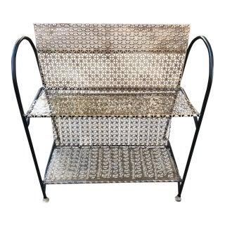Mid-Century Modern Salterini Style Metal Shelf