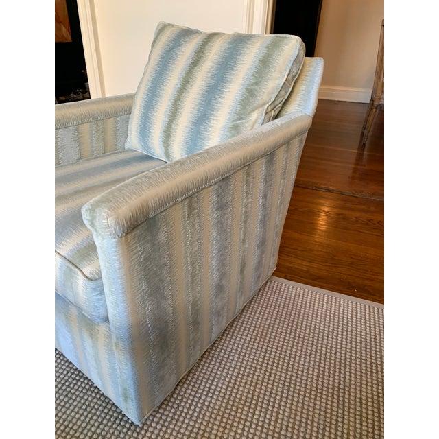 Contemporary Brunschwig & Fils Bromo Velvet Upholstered Swivel Chair For Sale - Image 3 of 10