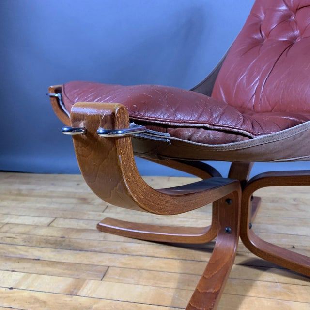 """Vatne Møbler Sigurd Ressell Low Back """"Falcon"""" Chair, 1970s, Norway For Sale - Image 4 of 11"""