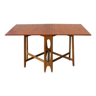 1960s Danish Modern Bendt Winge for Kleppes Møbelfabrikk Drop-Leaf Dining Table For Sale
