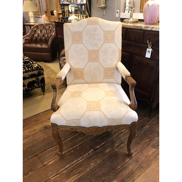 Baker French Style Arm Chair For Sale - Image 11 of 11