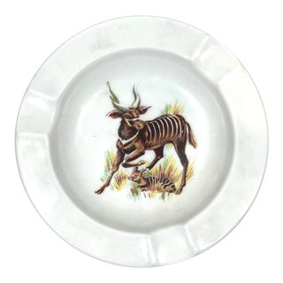 Vintage Schumann Arzberg African Bongo Antelope Ashtray For Sale