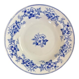 Mid 19th Century Antique Minton Blue and White Bowl For Sale