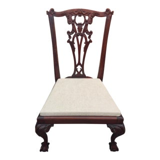 Mahogany Carved Chippendale Child's Chair For Sale