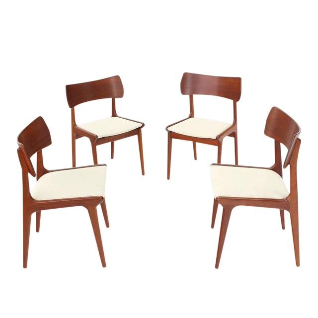 Fabulous Danish Mid Century Modern Teak Dining Chairs Set Of 4 Bralicious Painted Fabric Chair Ideas Braliciousco