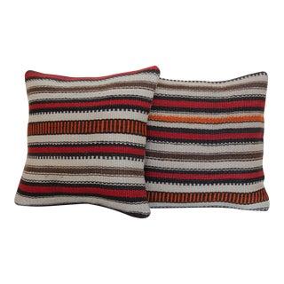 Striped Kilim Rug Pillow - a Pair