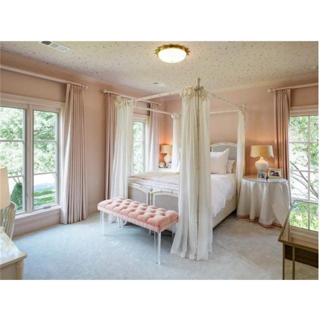 2010s Visual Comfort Alexa Hampton Rachel Flush Mount Ceiling Light in Brass For Sale - Image 5 of 9