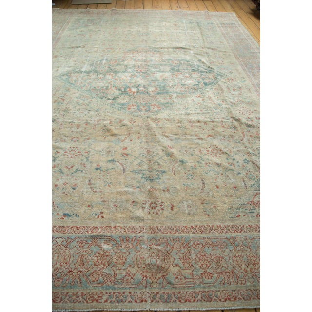 """Blue Distressed Antique Sultanabad Carpet - 9' X 12'5"""" For Sale - Image 8 of 10"""