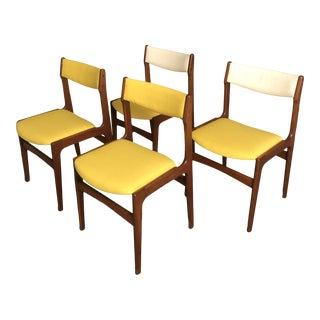 Mid-Century Danish Teak Dinning Chairs- Set of 4 For Sale
