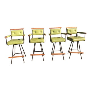 Cleo Baldon Style Barstools Circa 1970 Inca Products - Set of 4 For Sale
